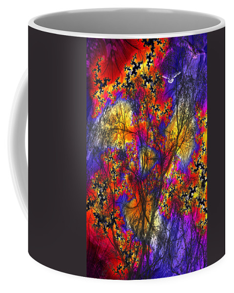 Forest Fire Coffee Mug featuring the digital art Forest Fire by Lisa Yount