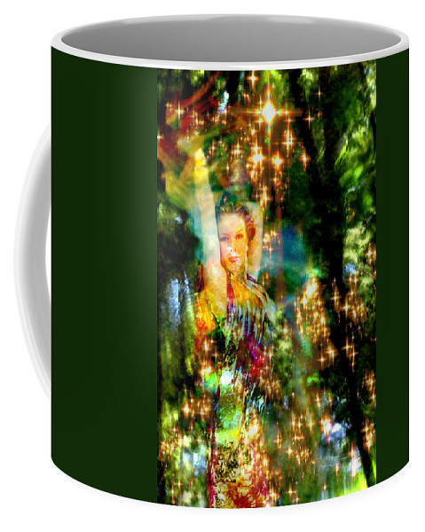 Forest Coffee Mug featuring the digital art Forest Goddess 4 by Lisa Yount