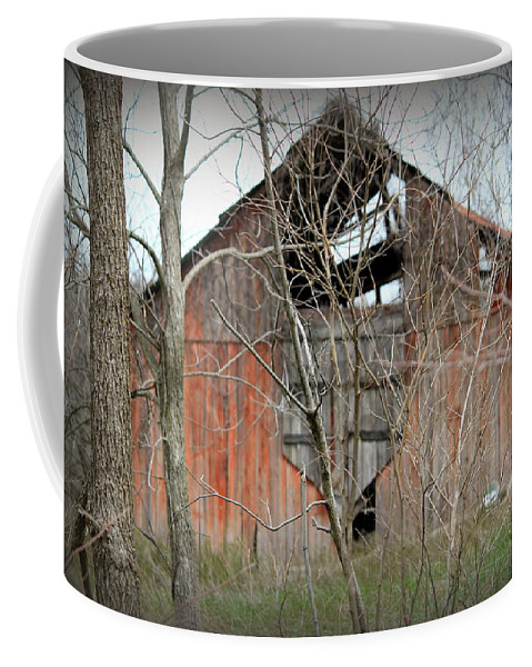 Barn Coffee Mug featuring the photograph Forgotten By Time by Lynn Sprowl