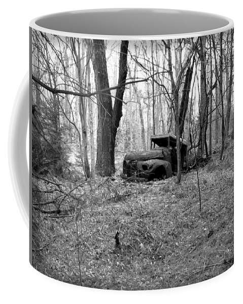 Truck Coffee Mug featuring the photograph Forgotten In Time by Kathy McCabe