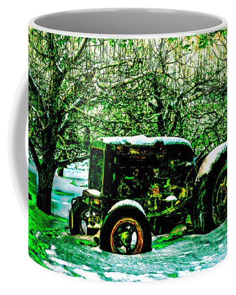 Car Coffee Mug featuring the photograph Forgotten by Lyriel Lyra