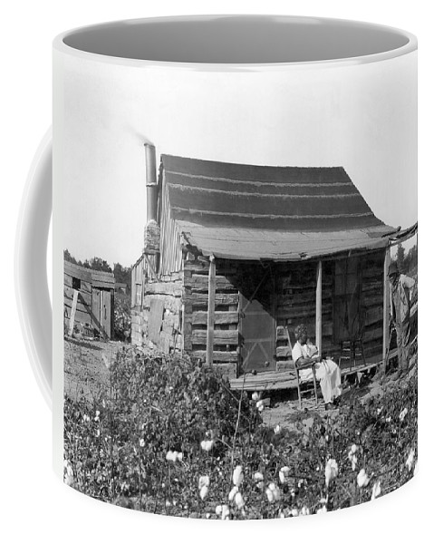 1800s Coffee Mug featuring the photograph Former Slaves At Their Cabin by Underwood Archives