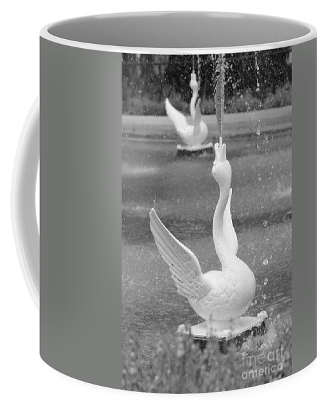 Forsyth Park Coffee Mug featuring the photograph Forsyth Park Fountain - Black And White 3 2x3 by Carol Groenen