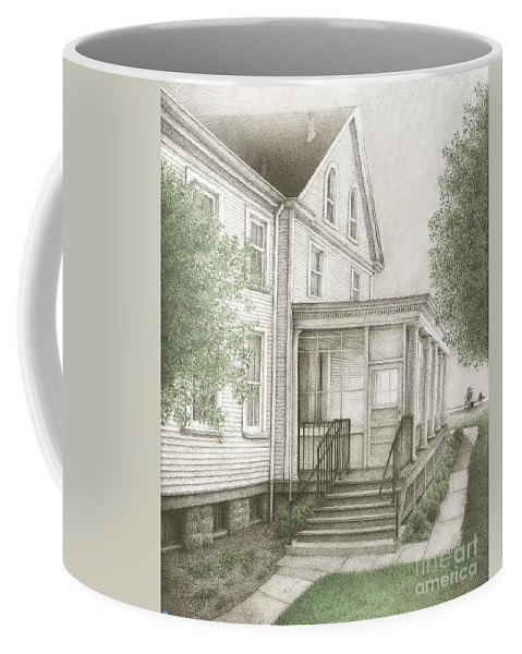Drawing Coffee Mug featuring the drawing Fort Baker by Michael Stanford