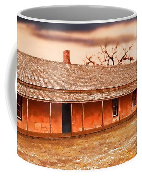 Digital Painting Coffee Mug featuring the digital art Fort Hays Winter by Tim Richards