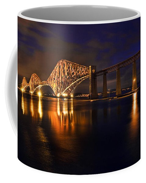 Transportation Coffee Mug featuring the photograph Forth Rail Bridge At Sunset by Marcia Colelli