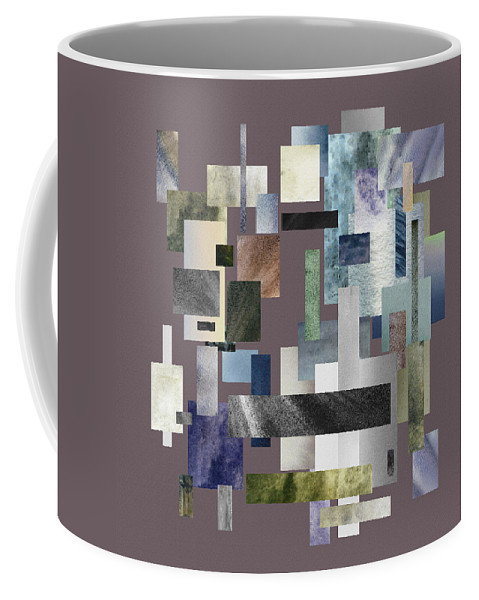 Gray Coffee Mug featuring the painting Forty Nine Shades Of Gray II by Irina Sztukowski