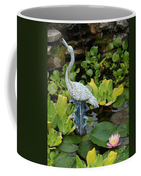 Flower Coffee Mug featuring the photograph Fountain Among Lilies by Sara Raber
