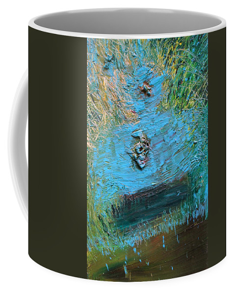Fountain Coffee Mug featuring the painting Fountain by Fabrizio Cassetta