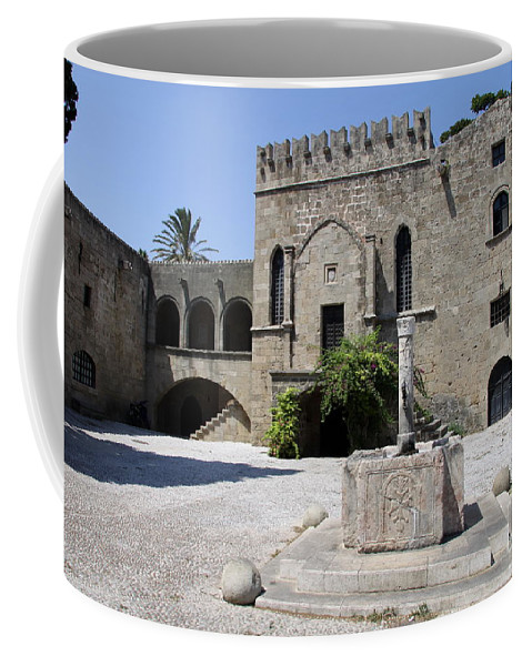 Fountain Coffee Mug featuring the photograph Fountain - Rhodos City by Christiane Schulze Art And Photography