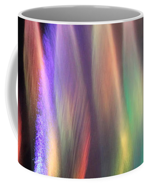 Abstract Coffee Mug featuring the photograph Fountains Of Color by James Eddy