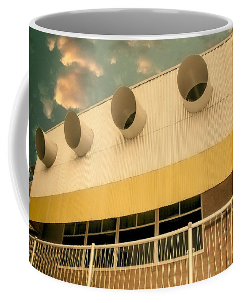 Palm Springs Coffee Mug featuring the photograph Four By Sea Vintage North Shore Yacht Club Salton Sea by William Dey