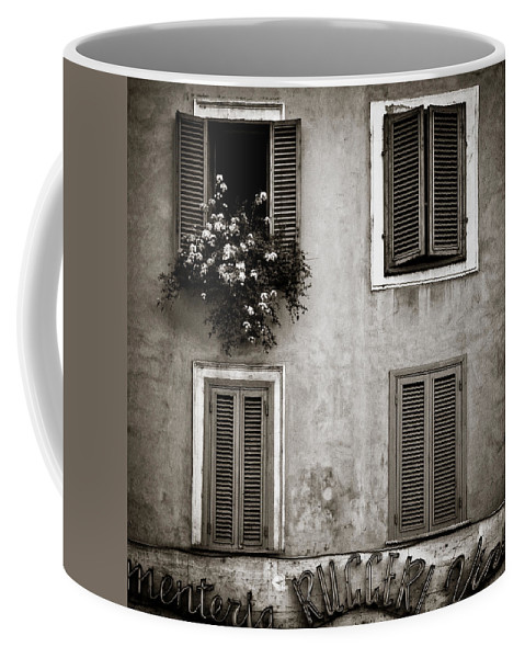 Rome Coffee Mug featuring the photograph Four Windows by Dave Bowman
