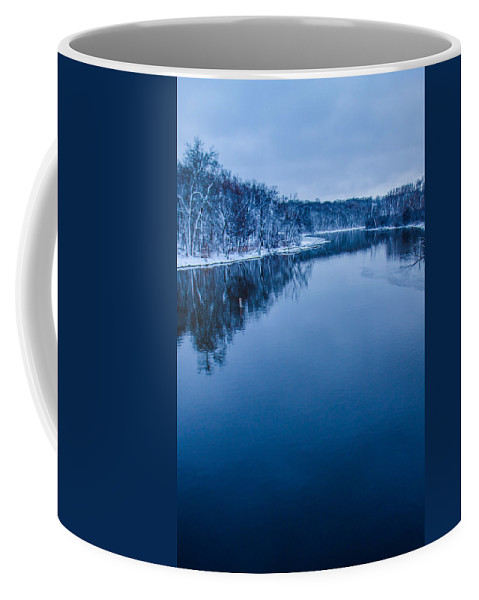 River Coffee Mug featuring the photograph Fox River Blues by Lauri Novak