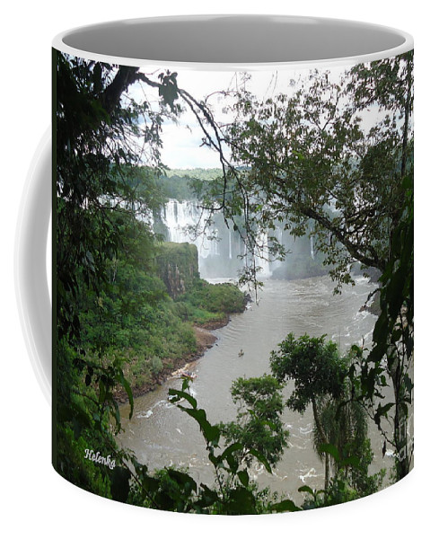 Falls Coffee Mug featuring the painting Foz Do Iguacu by Helena Wierzbicki