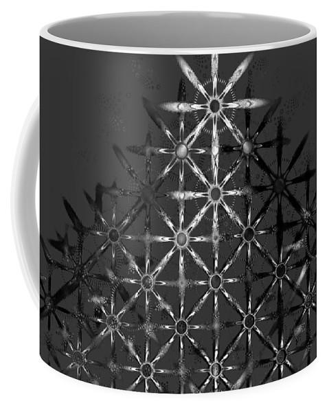 Fractal Coffee Mug featuring the digital art Fractal Flakes by Gary Blackman