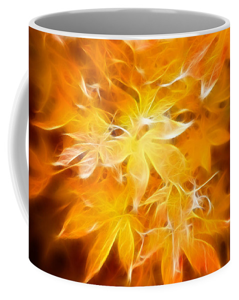 Color Coffee Mug featuring the photograph Fractal Gold 6664 by Timothy Bischoff