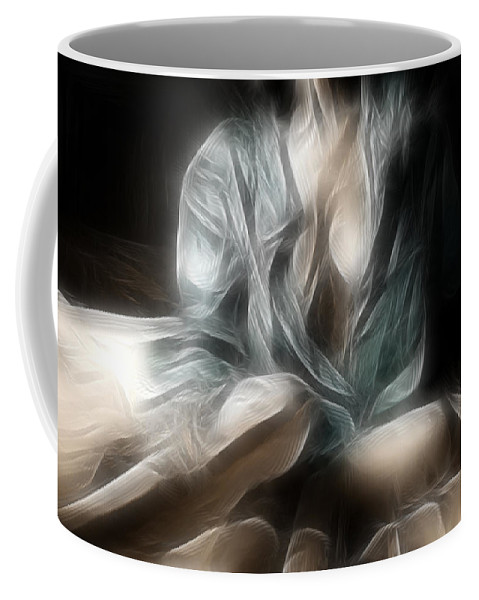 Fractal Coffee Mug featuring the photograph Fractal Nude 8637 by Timothy Bischoff