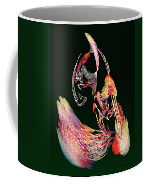 Parrot Coffee Mug featuring the photograph Fractal - Parrot by Susan Savad