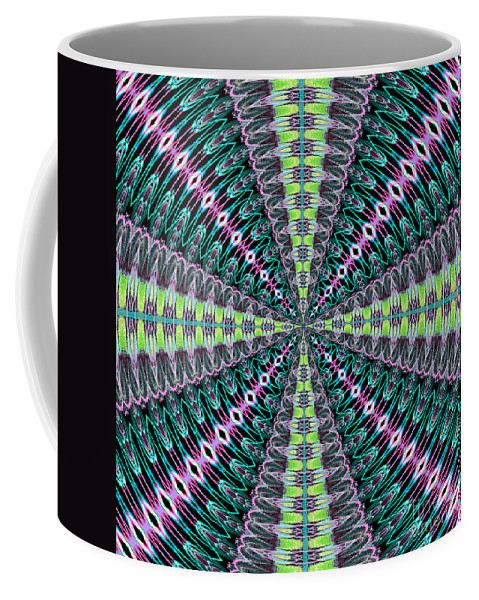 Fractals Coffee Mug featuring the digital art Fractalscope 25 by Rose Santuci-Sofranko