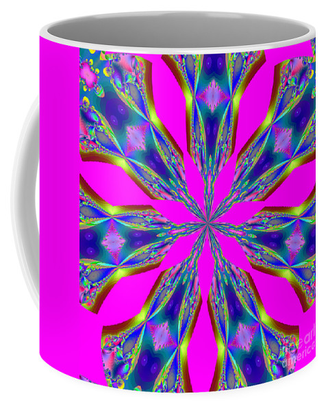 Fractals Coffee Mug featuring the digital art Fractalscope 29 by Rose Santuci-Sofranko