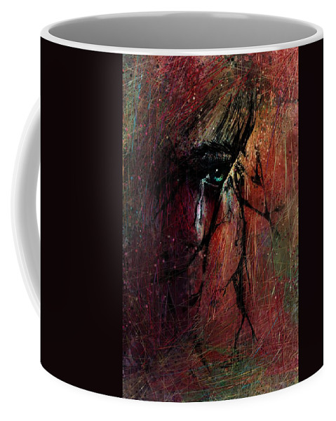 Fracture Coffee Mug featuring the digital art Fracture by Rachel Christine Nowicki
