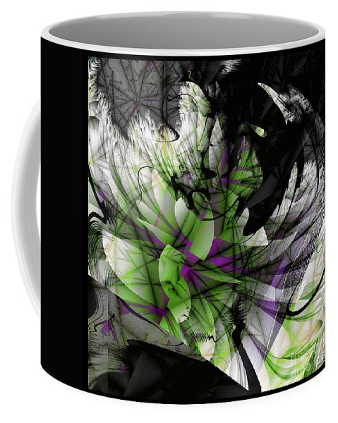 Fracture Bloom Coffee Mug featuring the digital art Fractured Bloom by Elizabeth McTaggart