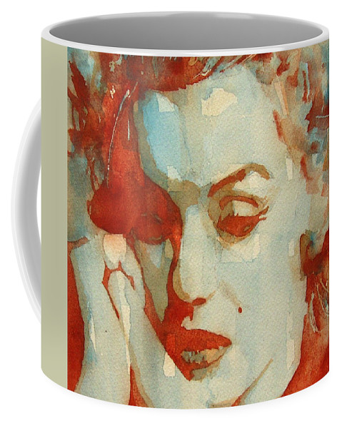 Marilyn Monroe Coffee Mug featuring the painting Fragile by Paul Lovering