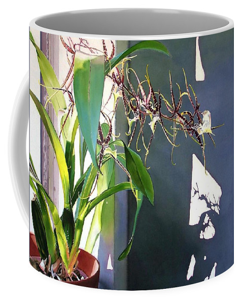 Plant Coffee Mug featuring the painting Frailty by Denny Bond