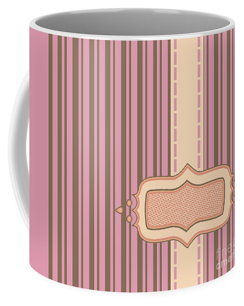 Background Coffee Mug featuring the photograph Frame With Ribbon Pinstripe Vector by Tim Hester