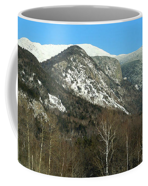 Mountains Coffee Mug featuring the photograph Franconia Notch from Echo Lake and Cannon Mountain by Nancy Griswold