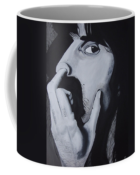 Black And White Coffee Mug featuring the painting Franklyz by Dean Stephens