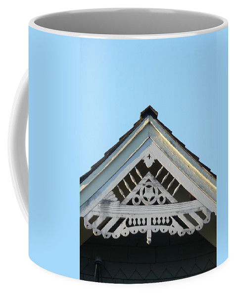 Heritage Coffee Mug featuring the photograph Frat Work Heritage by Nicki Bennett