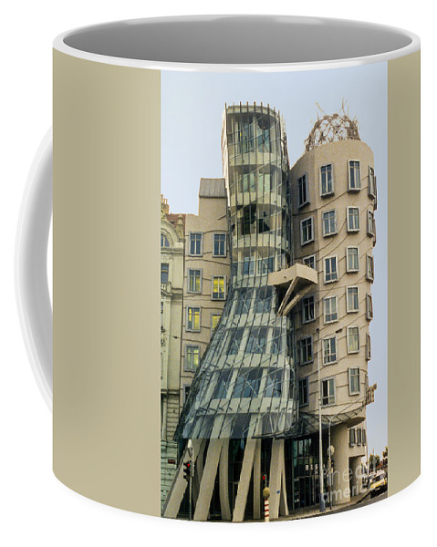 Prague Czech Republic Building Dancing Buildings Structures Architecture Cityscape Cityscape City Cities Landscape Landscape Coffee Mug featuring the photograph Fred And Ginger by Bob Phillips