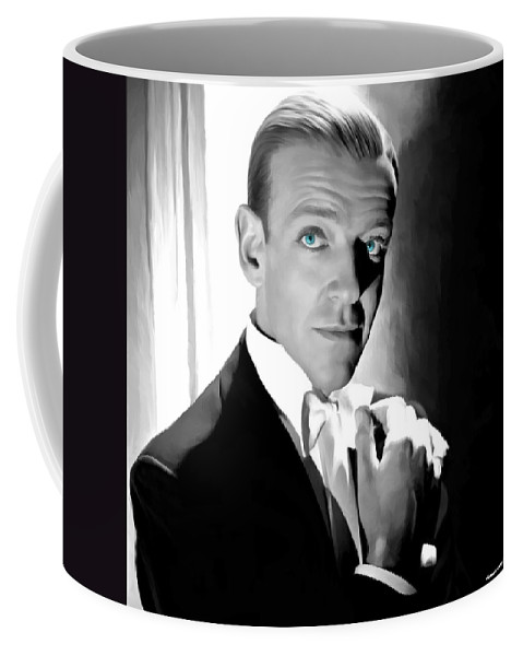 Fred Astaire Coffee Mug featuring the digital art Fred Astaire Portrait by Gabriel T Toro