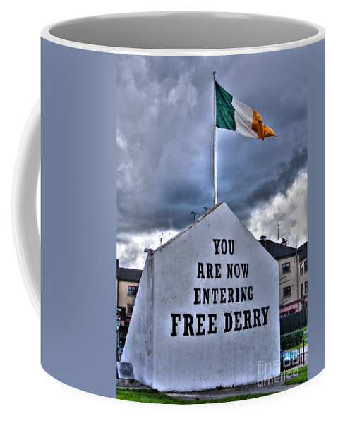 Ree Derry Corner Coffee Mug featuring the photograph Free Derry Wall by Nina Ficur Feenan