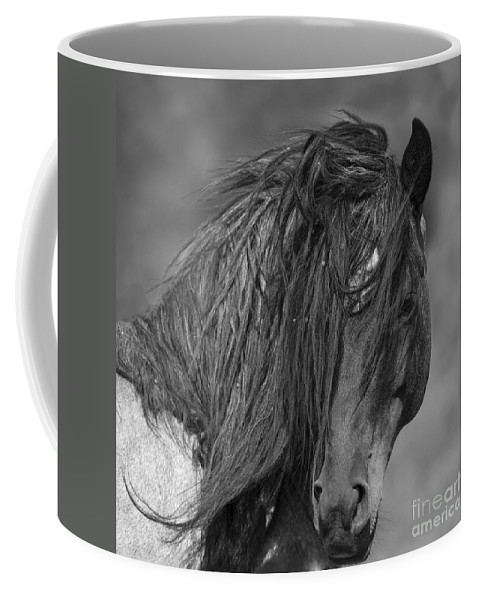 Mustang Coffee Mug featuring the photograph Freedom Close Up by Carol Walker