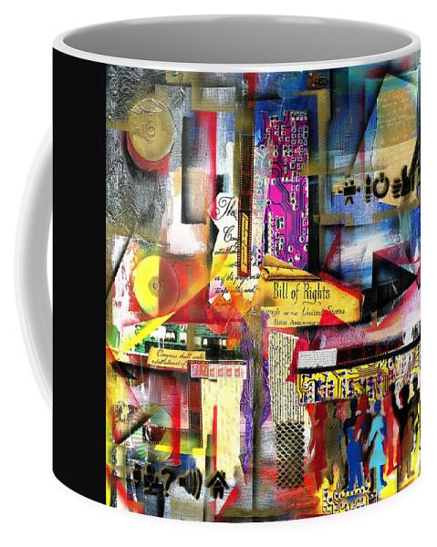 Everett Spruill Coffee Mug featuring the painting Freedom of Speech 3 by Everett Spruill
