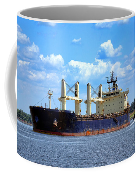 Cargo Coffee Mug featuring the photograph Freight Hauler by Olivier Le Queinec