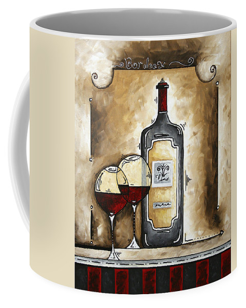 Art Coffee Mug featuring the painting French Bordeaux Original Madart Painting by Megan Duncanson