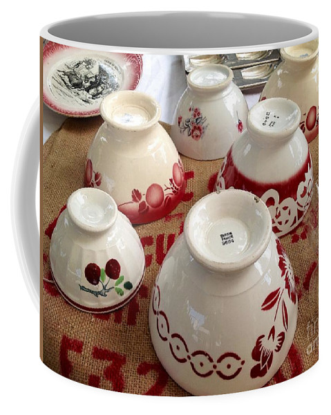 France Coffee Mug featuring the photograph French Cafe Bowls by France Art