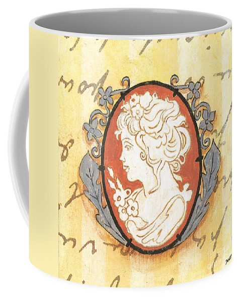 Cameo Coffee Mug featuring the painting French Cameo 2 by Debbie DeWitt