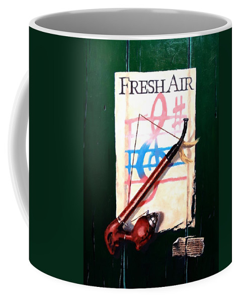 Still Life Coffee Mug featuring the painting Fresh Air by Jim Gola