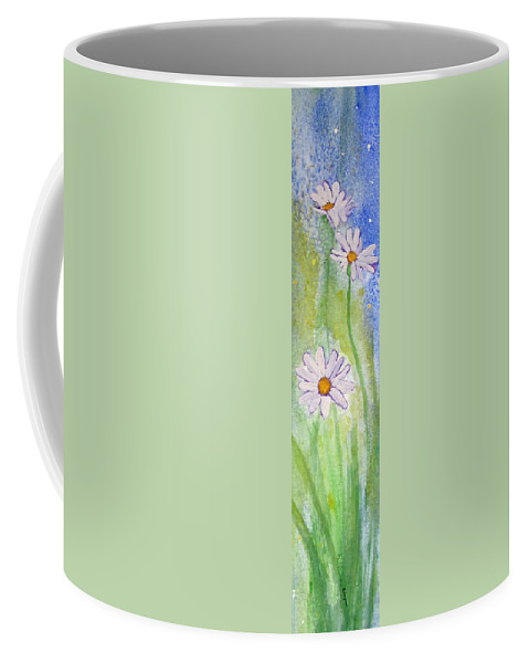 Floral Coffee Mug featuring the painting Fresh As A Daisy 1. by Elvira Ingram