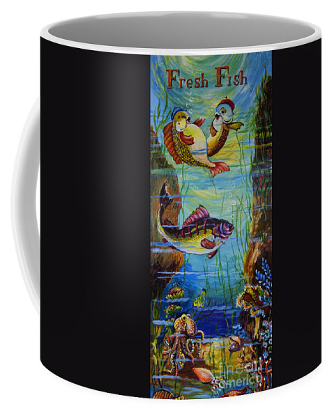 Ithaca Coffee Mug featuring the photograph Fresh Fish by Gillian Singleton