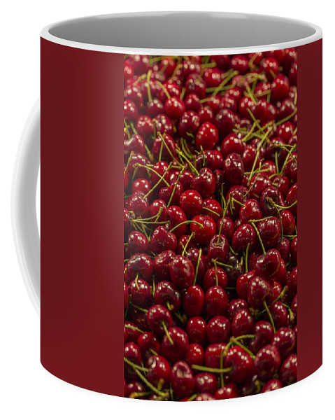 Cherry Coffee Mug featuring the photograph Fresh Red Cherries by Scott Campbell