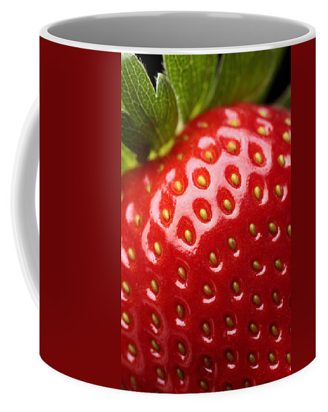 Strawberry Coffee Mug featuring the photograph Fresh Strawberry Close-up by Johan Swanepoel