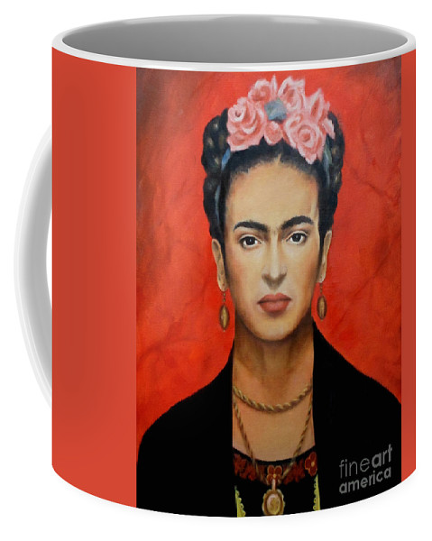 Frida Coffee Mug featuring the painting Frida Kahlo by Yelena Day