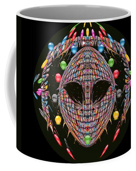 Mask Coffee Mug featuring the digital art Friendisee by Subbora Jackson