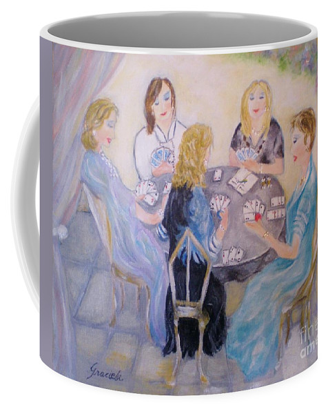 Friends Coffee Mug featuring the painting Friends by Graciela Castro